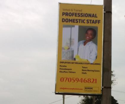 Streetpole ads nairobi